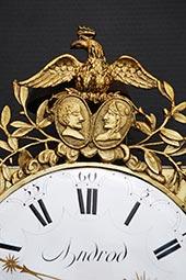 Comtoise, seltene Adlerspange mit Napoleon und Josephine