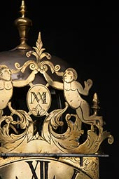 Museale antike franz. Laternenuhr ca. 1700
