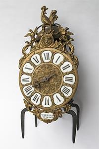 Antike französische Laternenuhr mit Hermes ca. 1740
