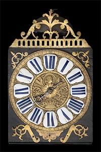 Kartuschen-Comtoise-Uhr von LES FRERES JOBEZ
