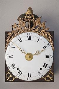 Comtoise-Uhr mit Jacobinermütze, EGALITE LIBERTE, Siegerkranz