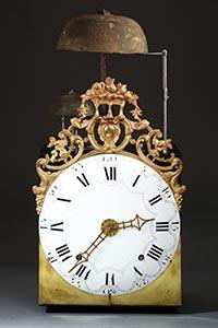 Maxi-Comtoise-Uhr mit 2 Glocken, seltene Schlag-Anordnung