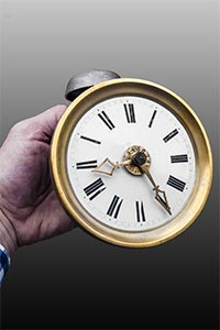 Mini-Comtoise-Uhr<br> Kleinst-Comtoise