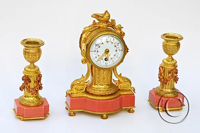 Mini-Pendule - Garnitur im Louis XVI-Stil