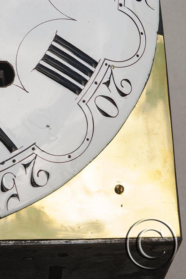 Comtoise-Uhr, Adlerspange, schöne Blumenmalerei