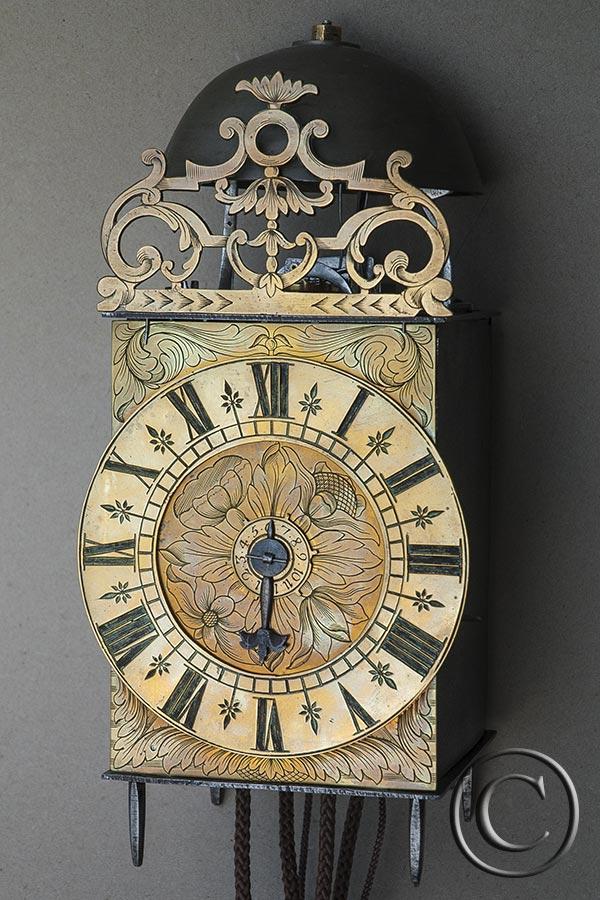 Museale antike franz. Einzeiger-Laternenuhr ca. 1720