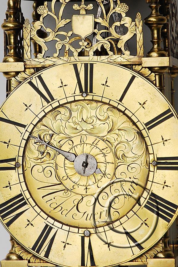 Prächtige antike französische Einzeiger-Laternenuhr ca. 1730