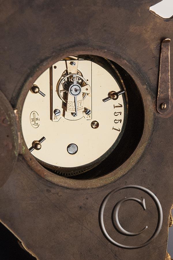 Mini-Cartel-Uhr im Rokoko-Stil