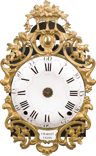 antike Comtoise-Uhr