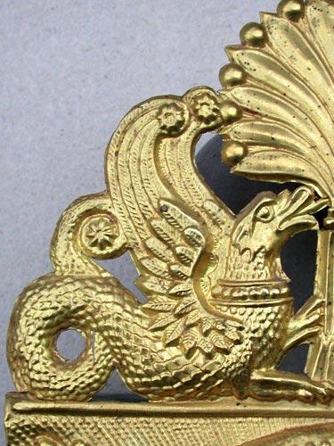 palmette schinkel drache uhr comtoise